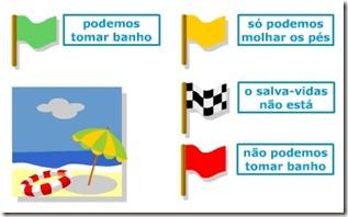 bandeiras praia